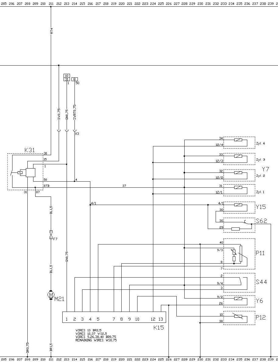 LE jetronic schema 20E motor