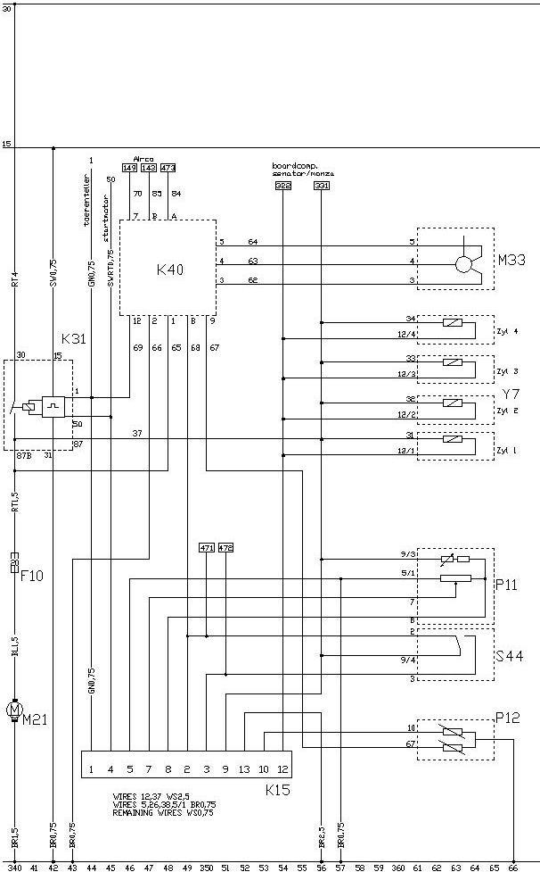 Schema injectie 22E