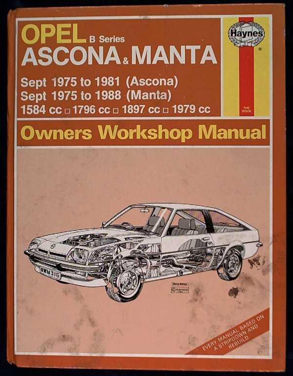 haynes owners workshop manual Ascona en Manta B