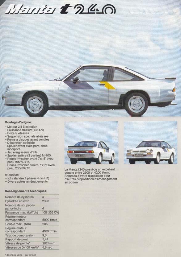 Irmscher Opel Manta i240