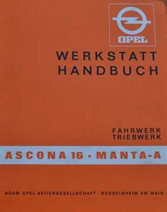 Werkplaats handboek Ascona en Manta B