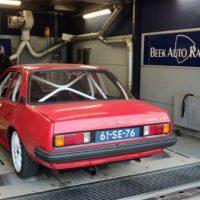 Rollenbank sessie bij beek auto racing